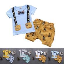 2 Piece Children's Sets  Cotton Infant Kids Boys Clothes Children Clothing Sets Summer Set