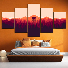 Firewatch Video Games Painting Minimalism Fire Lookout Tower Forest Olly Moss Illustration Wall Art Home Decor Poster