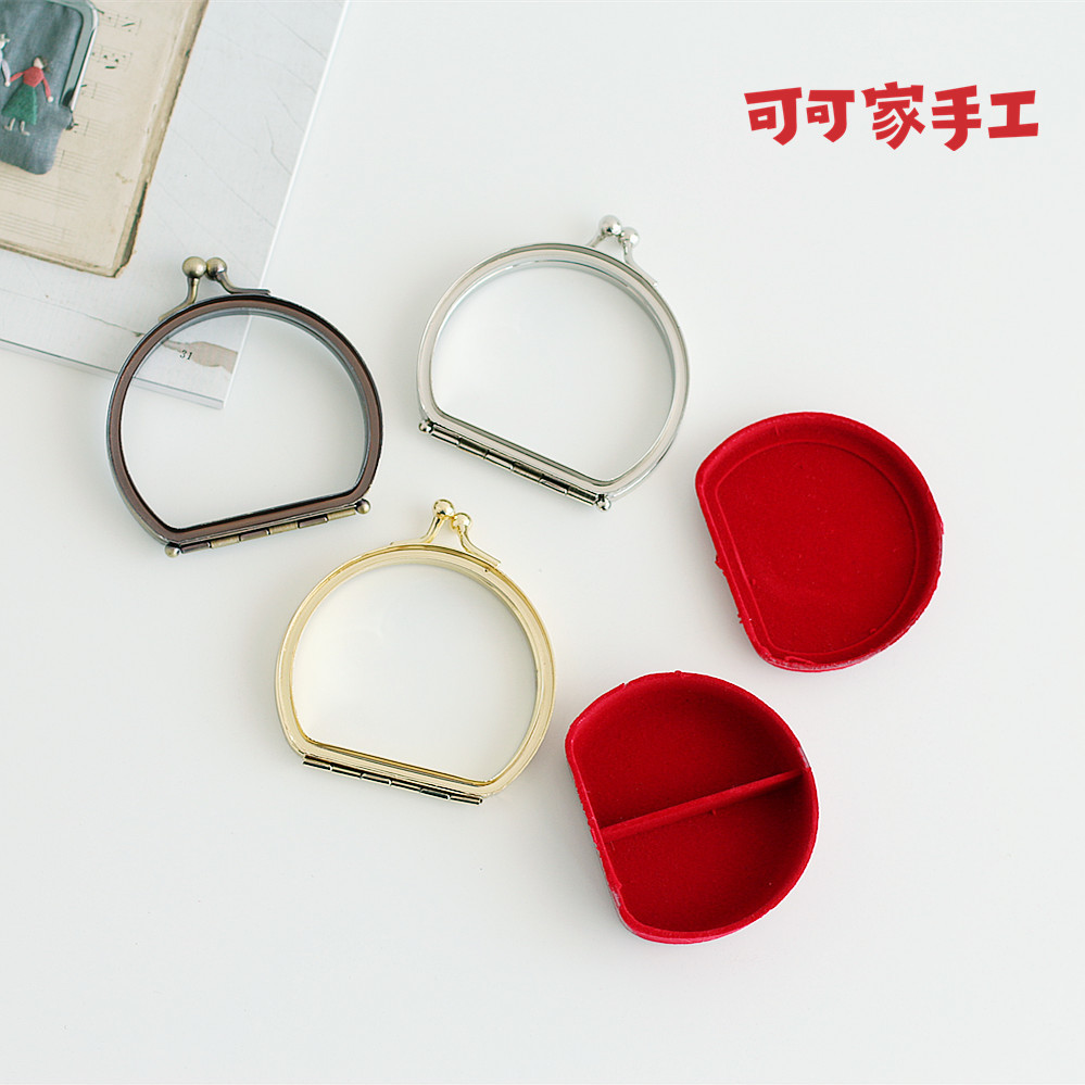 Round Shape Metal Purse Frame With Plastic Box Clutch Wallet Frame Purse Obag Handle Diy Accessories