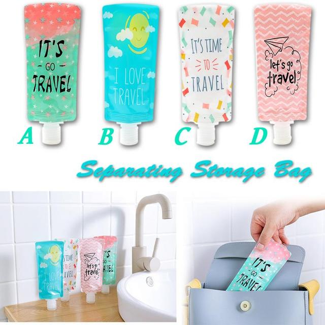 Squeeze Makeup Container Lotion Separating Storage Bag Portable Shower Gel Shampoo Bottle Face Washing Lotion Storage Bags