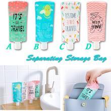 Squeeze contenedor de maquillaje para loción, bolsa de almacenamiento separadora, portátil, Gel de ducha, champú, botella, lavado de cara, loción, bolsas de almacenamiento