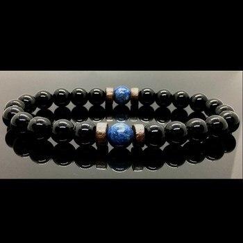 Men Bracelet Natural Moonstone Bead Tibetan Buddha Chakra Lava Stone Diffuser Bracelets Jewelry Gift 5