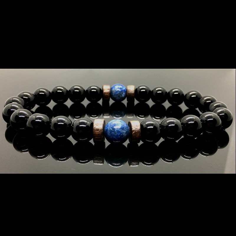 Men Bracelet Natural Moonstone Bead Tibetan Buddha Bracelet chakra Lava Stone Diffuser Bracelets Men Jewelry gift
