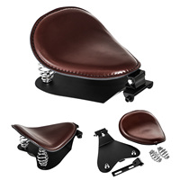 100% Brand New And High Quality Leather neoprene foam Motorcycle Solo Driver Seat Base Spring Bracket for Harley Bobber Chopper