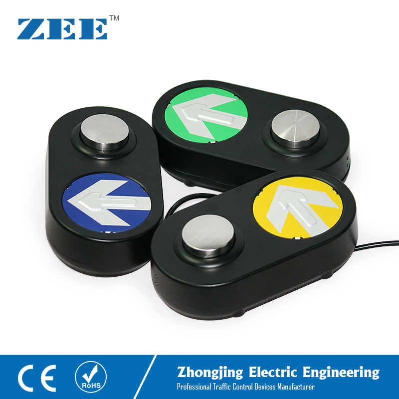 Traffic Pedestrian Push Button Pedestrian Traffic Light Button LED Traffic Button Arrow Board Black Housing