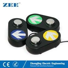 Traffic Pedestrian Push Button light LED Arrow Board Black Housing