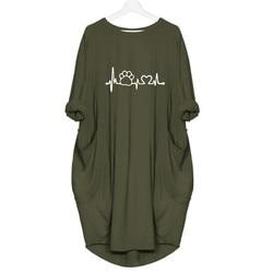 2019 New Fashion shirts Dog Cat Heart Print Tops Plus Size Tshirt Funny clothing  Kyliejenner Rock tshirt women plus size 3