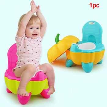Baby Potty Toilet Bowl Cute Pumpkin Cartoon Training Pan Toilet Seat Children Bedpan Portable Urinal Comfortable Backrest Pot - DISCOUNT ITEM  0% OFF All Category