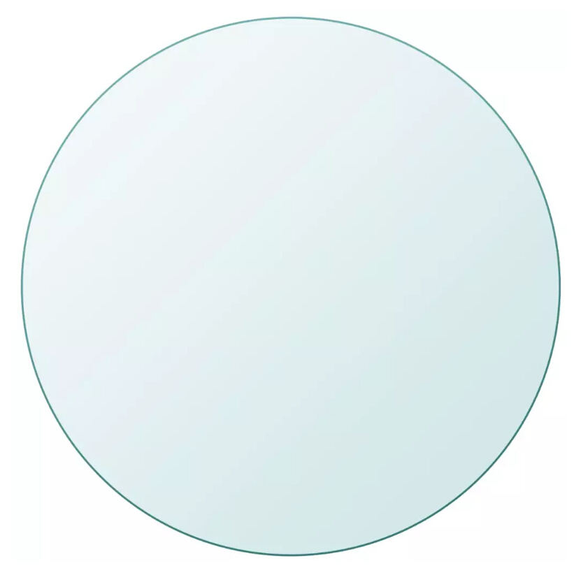 VidaXL Table Top Tempered Glass Round 700 Mm
