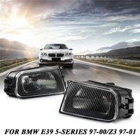 1 Pair Clear Front Driving Bumper Fog Light Housing for BMW E39 5 Series 528i 540i 1997 2000 / Z3 1997 2001 Replacement Parts