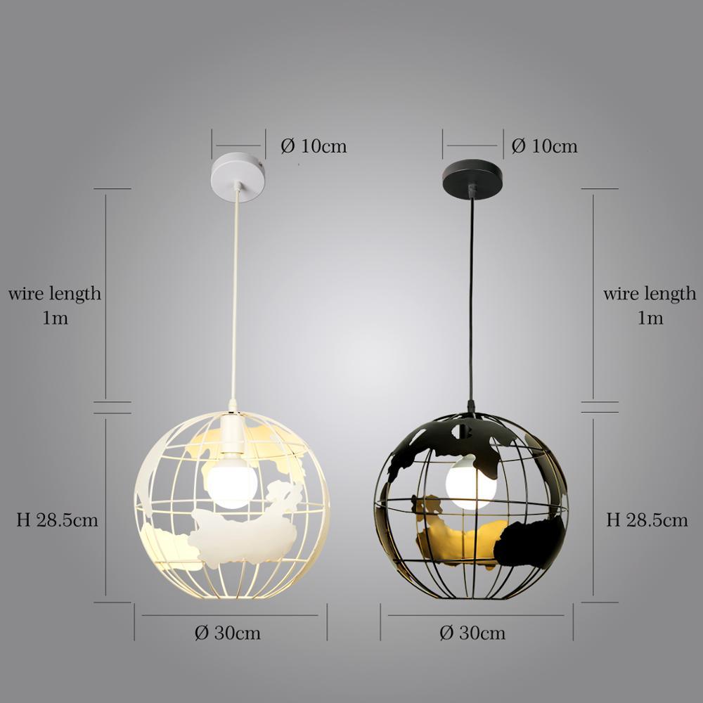 Image 5 - ZHAOKE Modern Global Earth Pendant Lights suspension luminaire for Living Room Restaurant Home Lighting Fixtures pendant lamps-in Pendant Lights from Lights & Lighting
