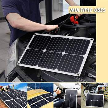Solar Panel Prices | Best Price 3in1 10W 12V/5V DC USB Solar Panel Kit 10A PWM Multifunction Solar Charger Controller 30cm DC Male Cable