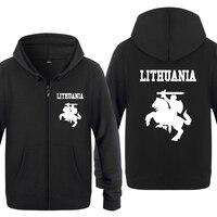 Lithuania Coat of Arms Creative Hoodies Men 2018 Men's Fleece Zipper Cardigans Hooded Sweatshirts