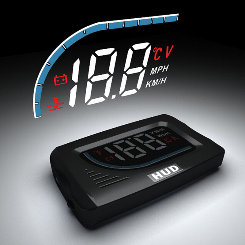 3 Inch Car Electronics Hud Projector Obd2 Display Projector On Windshield Gps Speedometer Auto Head Up Display Car Speedometer