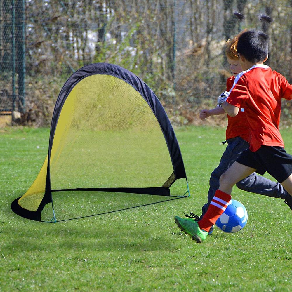 Pop Up jeux portables de pliage de but de football pour enfants