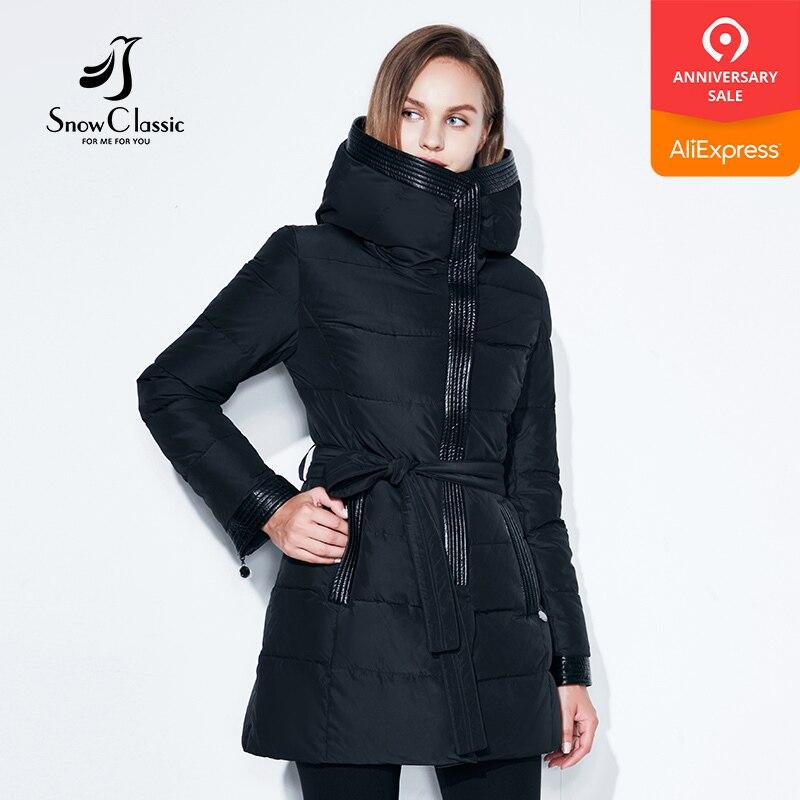 Women Winter Coat Jacket Warm Parkas Female Overcoat Cotton Coat High Quality Adjustable Waist Winter Collection