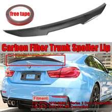 Real da fibra do carbono do carro tronco spoiler asa para bmw f33 4 series 2 porta f83 m4 conversível psm estilo traseiro telhado spolier asa