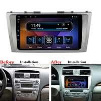9 дюймов, автомобильный, мультимедийный плеер для Toyota Camry 2008 2011 для Android 8,1 2 + 16G автомобильный радиоприемник 2Din Bluetooth wifi gps Nav четырехъядерный