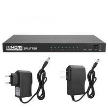 1x8 HDTV Allocator HDMI сплиттер 3D 1080 P Аудио видеораспределитель в 1 в 8 Выход 100-240 В в продаже