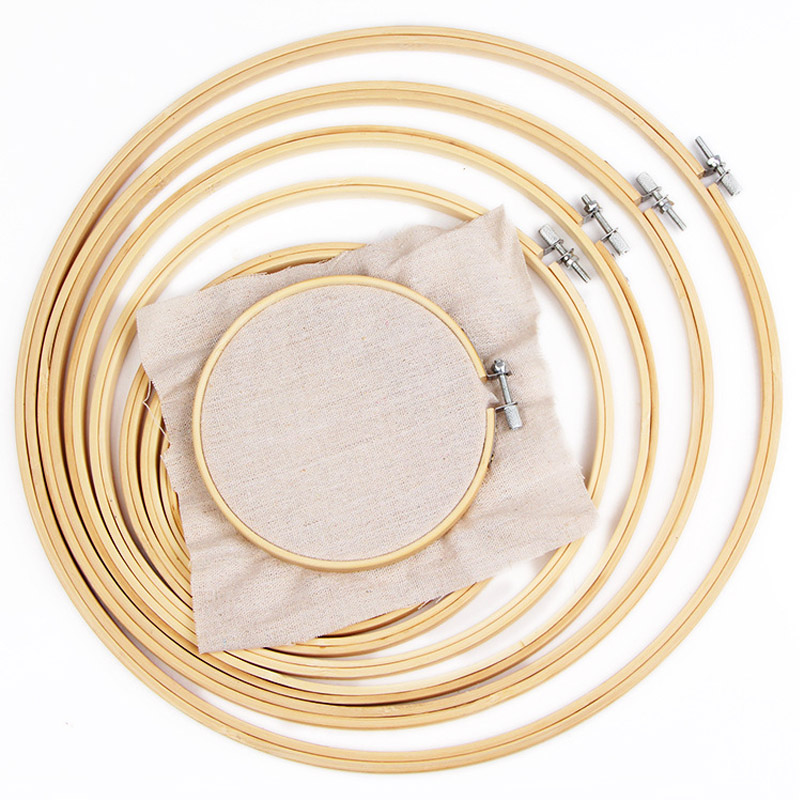 Multicolor NUOLUX 5pcs Embroidery Hoop Embroidery Circle Set