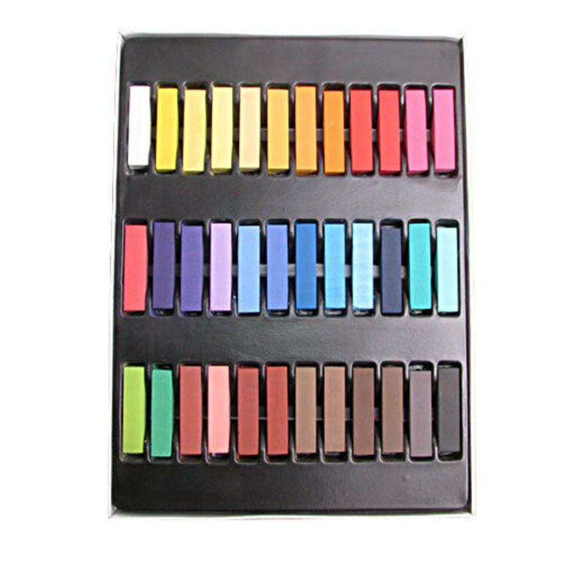 36 Colors Non-toxic Temporary Color Hair Chalk Dye Set Hair Salon Pastel