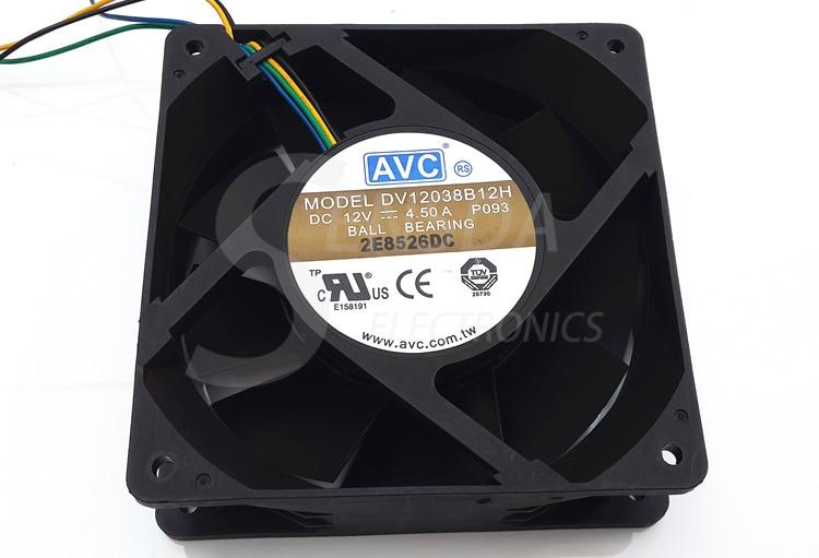 Original AVC DV138B12H 138 1mm 12cm 12V 4.5A high speed server inverter axial cooling fans cooler
