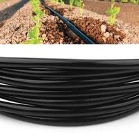 Черный 50 м полива шланг трубы 4/7 мм микро капельного орошения сада Системы