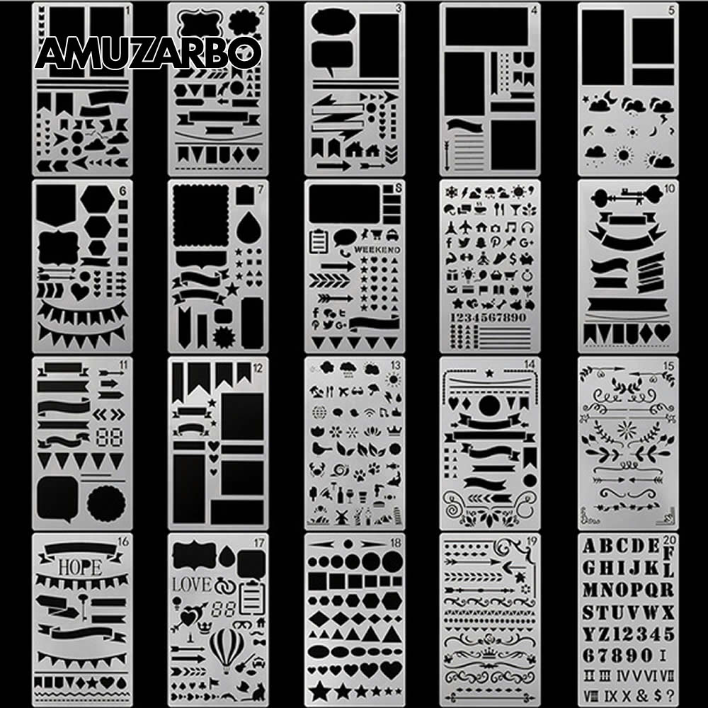 Creative Painting Template A6 Size Hand Account DIY Album Theme Lace Ruler Drawing Board Stencil Decoration ToolsCreative Painting Template A6 Size Hand Account DIY Album Theme Lace Ruler Drawing Board Stencil Decoration Tools