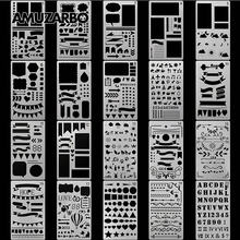 Creative Painting Template A6 Size Hand Account DIY Album Theme Lace Ruler Drawing Board Stencil Decoration Tools