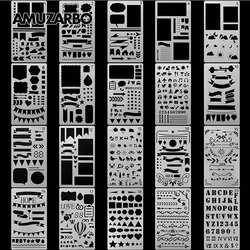 Творческий живопись шаблон A6 Размеры ручка альбом «сделай сам» тему кружева чертеж линейки доска трафарет Инструменты для декорирования