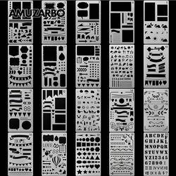 Kreatywny obraz szablon A6 rozmiar ręcznie pod uwagę album diy motyw koronkowa linijka tablica do pisania wzornik przybory do dekoracji
