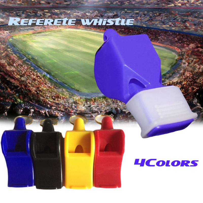 1Pcs Whistle Plastic Soccer Football Basketball Hockey Baseball Sports Referee Whistle Survival Outdoor Like Big Sound