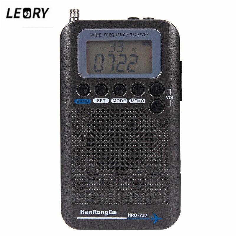 LEORY nouvelle Radio à bande complète Portable VHF FM AM enregistreur bande avion récepteur Radio CB SW récepteurs Radio avec écran LCD