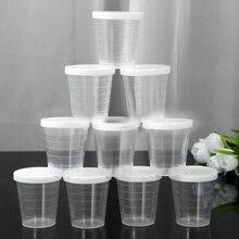10 шт 30 мл для лекарств измерительное приспособление измерительные чашки с белыми крышками прозрачный контейнер