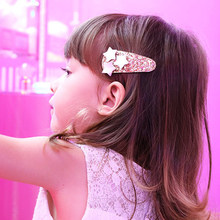 Fashion 1PC Shimmering Powder Children Safe BB Clips Unique Lovely Paillette Star Kids Hair Clip Dropshipping(China)