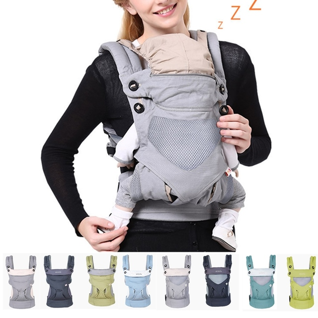 Ergonomic Baby Carrier  Women Multi-functional Four Position Infant Newborn Baby Carrier 360 Cool Air Infant Breathable Backpack
