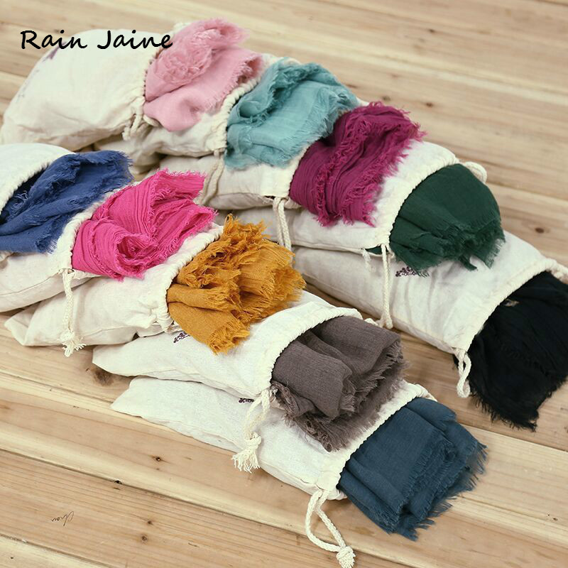 Scarves     Wraps   Jilbab For Women Sunscreen Neck Female Solid Color Cotton Echarpe Long Hijab   Scarf   Shawls Ladies Muslim Fashion