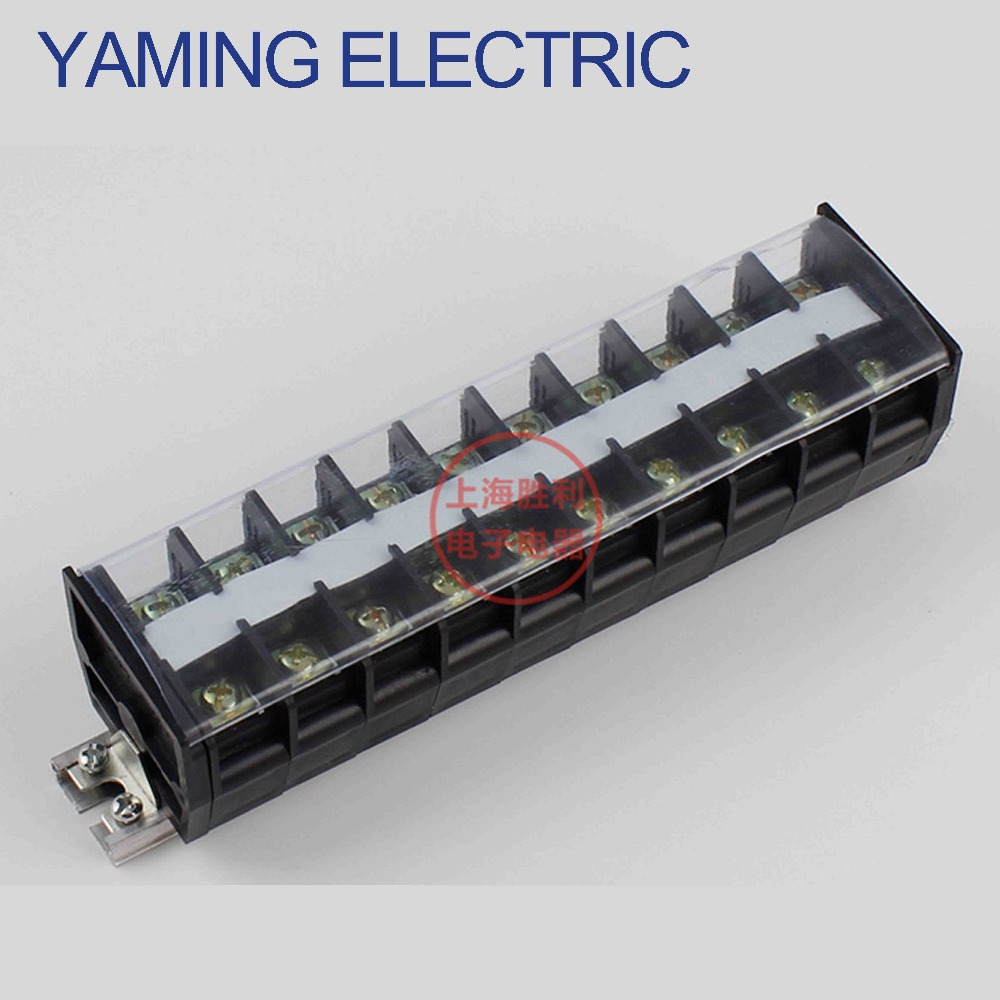 цена на P195 600V 60A TD-6010 TD(AZ1)60A/10P Fixed Barrier Terminal Block electrical Connector Cable Wire Guide Rail Mounted