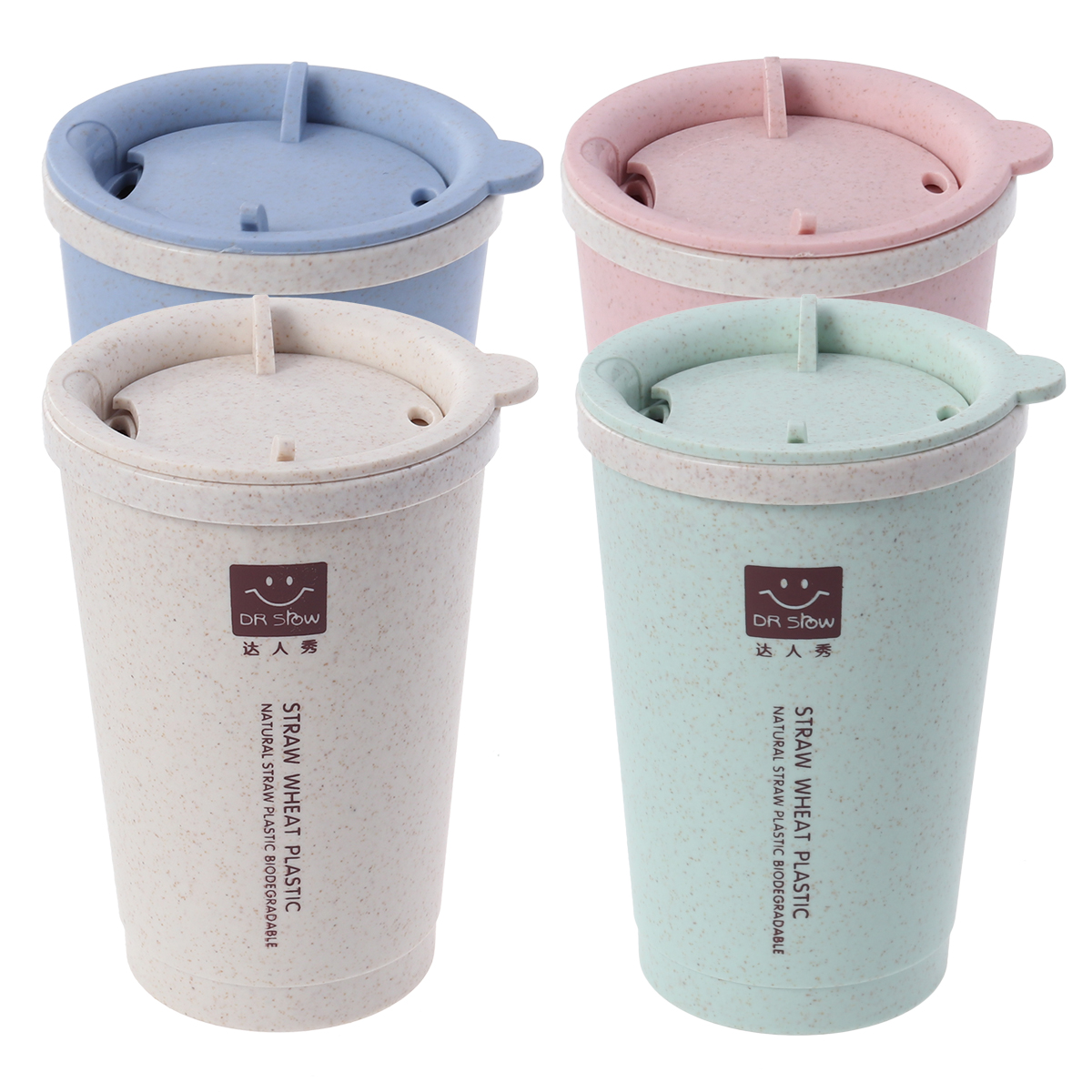 280ML Vacuum Cup Rotatable Lid Double Insulated Creative Coffee Mug Water Bottle Thermal Cup for Office Home Travel cup