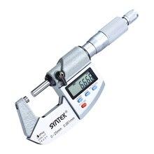 IP64 0-25 мм электронный цифровой микрометр Точность 0,001 мм внешний диаметр микрометра карбида наконечник измерительные инструменты