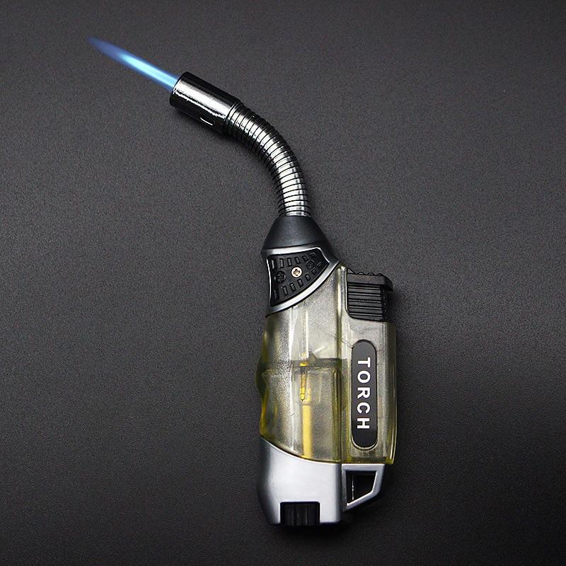 Torch Turbo Lighter 2018 New  Spray Gun Jet Butane Cigar Lighter Gas Cigarette 1300 C Windproof Lighter No Gas