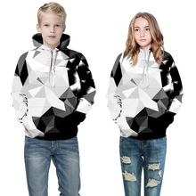 Купить с кэшбэком Girls sweater Europe and the United States 3d digital printing hooded shirt shirt sports baseball children's clothing