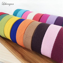 Lshangnn 25mm( 1) Canvas Backpack Belt 10 Yards Webbing Lable Strap Belting Bag Tape For DIY Luggage Colorful 40 Colours