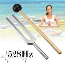 Zeast 528HZ алюминиевая медицинская тюнинговая вилка, чакра, молоток, шаровая диагностическая вилка с молотком, набор для тестирования неровной системы, тюнинговая вилка