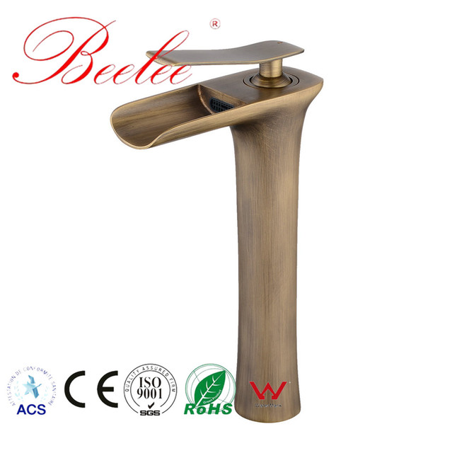 vintage bronzed standing Sink Faucet Basin Tap Contemporary Chrome gold hot cold faucet Lavatory Classic Home decor Bathroom Tap