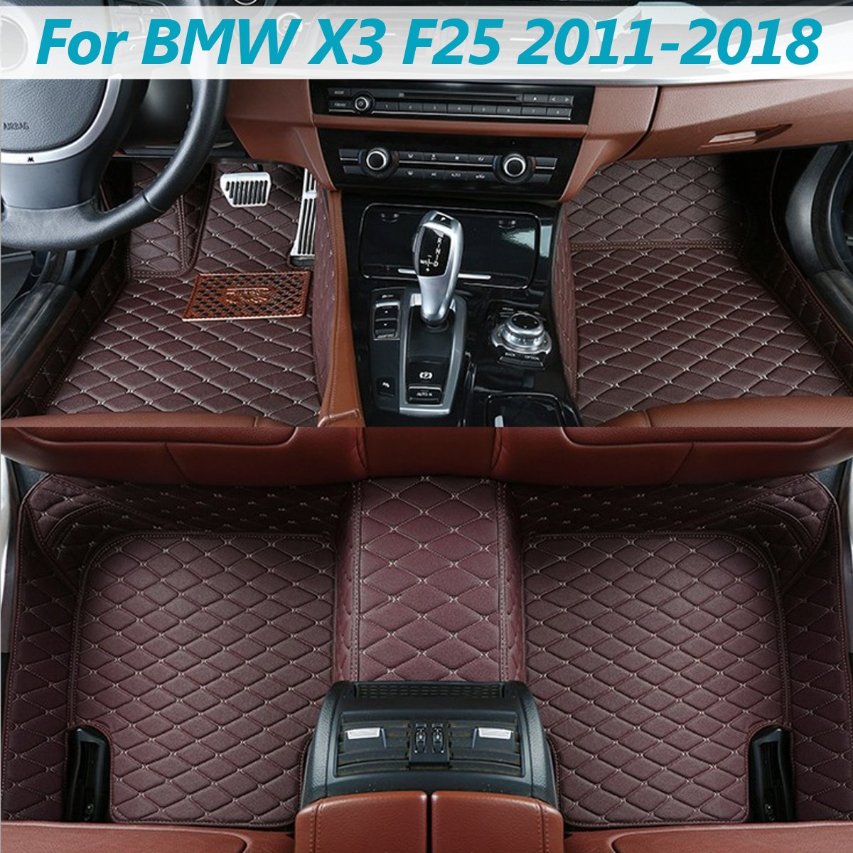 Car Leather Front Rear Floor Mats Set Liner Waterproof 5 Seat Mat For BMW X3 F25 2011 2012 2013 2014 2015 2016 2017 2018Car Leather Front Rear Floor Mats Set Liner Waterproof 5 Seat Mat For BMW X3 F25 2011 2012 2013 2014 2015 2016 2017 2018