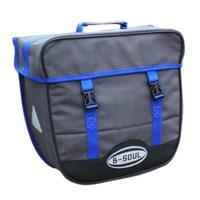 SEWS B SOUL Bicycle Bag 20L Waterproof Saddlebags Rear Rack Single sided Bicycle Bags Trunk Seat Pannier Bag with Rain Cover b