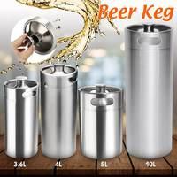 3.6L/4L/5L/10L Mini Stainless Steel Beer Keg Pressurized Growler for Craft Beer Dispenser System Home Brew Beer Brewing Tool