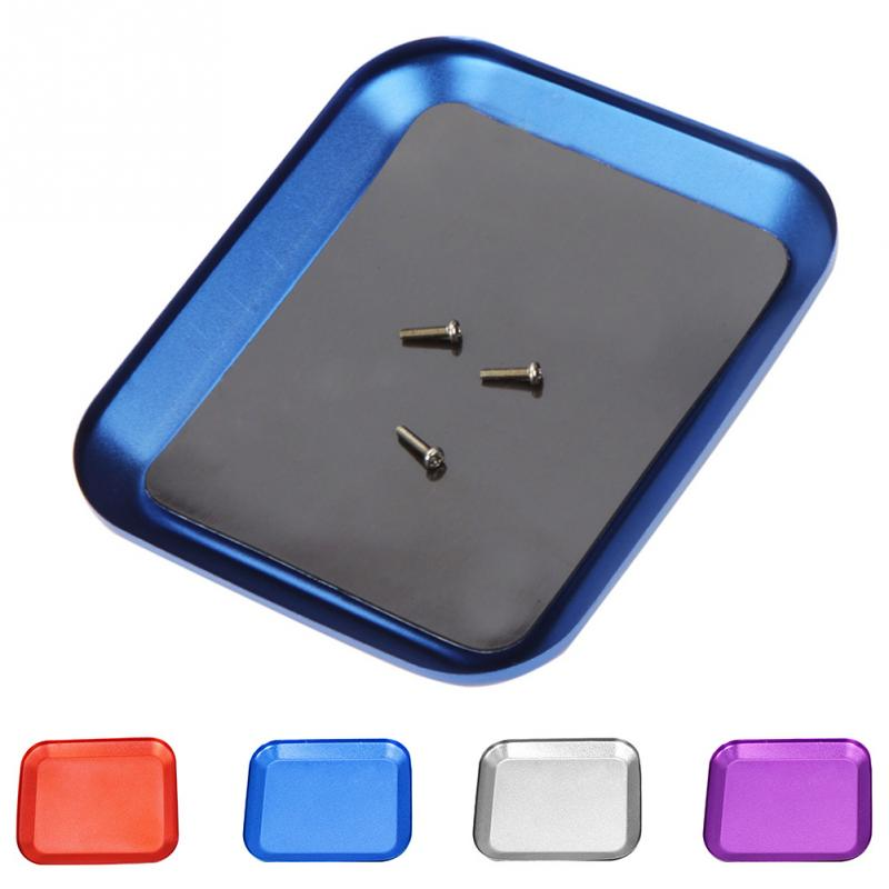 Electronics Repairing Hand Tool Plate Trays Aluminum Alloy Screw Tray with Magnetic for RC Model Phone Repair Model Screw Plate
