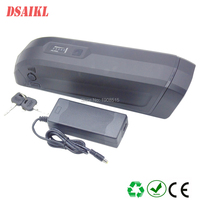 EU US tax free side release bottle 36V 14ah lithium battery pack with 5V USB for cellphone